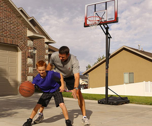 playing basketball on your driveway