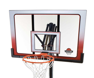 backboard, rim and net detail